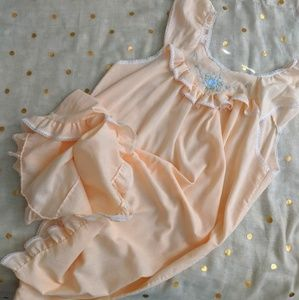 Vintage Embroidered Peach Nightgown